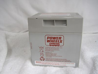 Power Wheels 12 Volt Battery Rechargeable Fisher Price 00801-0638