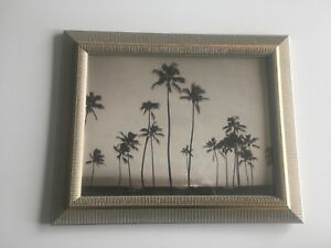 Gold Frame with Palm Tree print