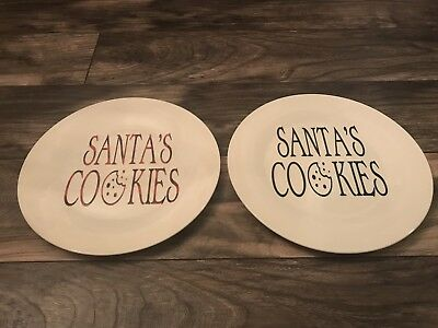 SANTA'S COOKIES plate personalized for Christmas (Personalized Cookies For Santa Plate)