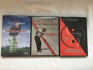 Graves Golf Academy Moe Norman DVD's Lot of Three