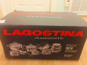 Brand new Logastina 15 piece Ambiante pot set