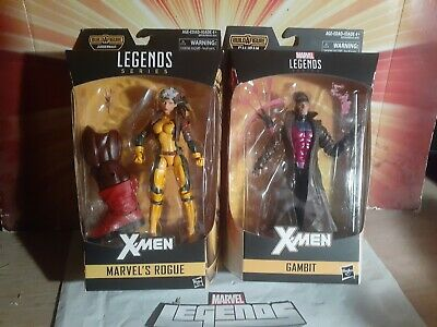 MARVEL LEGENDS ROGUE, JUGGERNAUT BAF SERIES AND GAMBIT 2 FIGURE LOT
