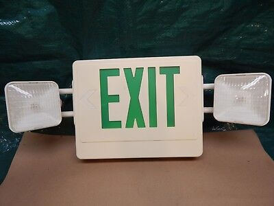 Vintage Lighted Emergency Exit Sign 26 X 10 Man-cave Tested You Restore