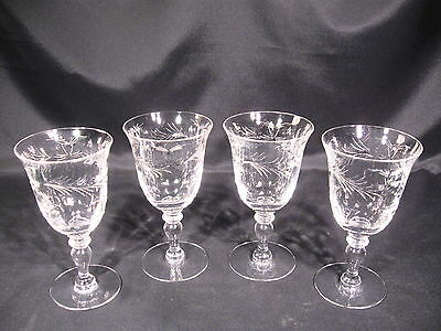 Hawkes Glass Co. Louise Water Goblets Stem 7375 Group of 4