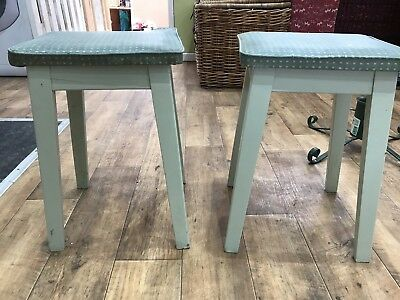 Vintage Authentic 1950s / 1960s Kitchen Stools x2