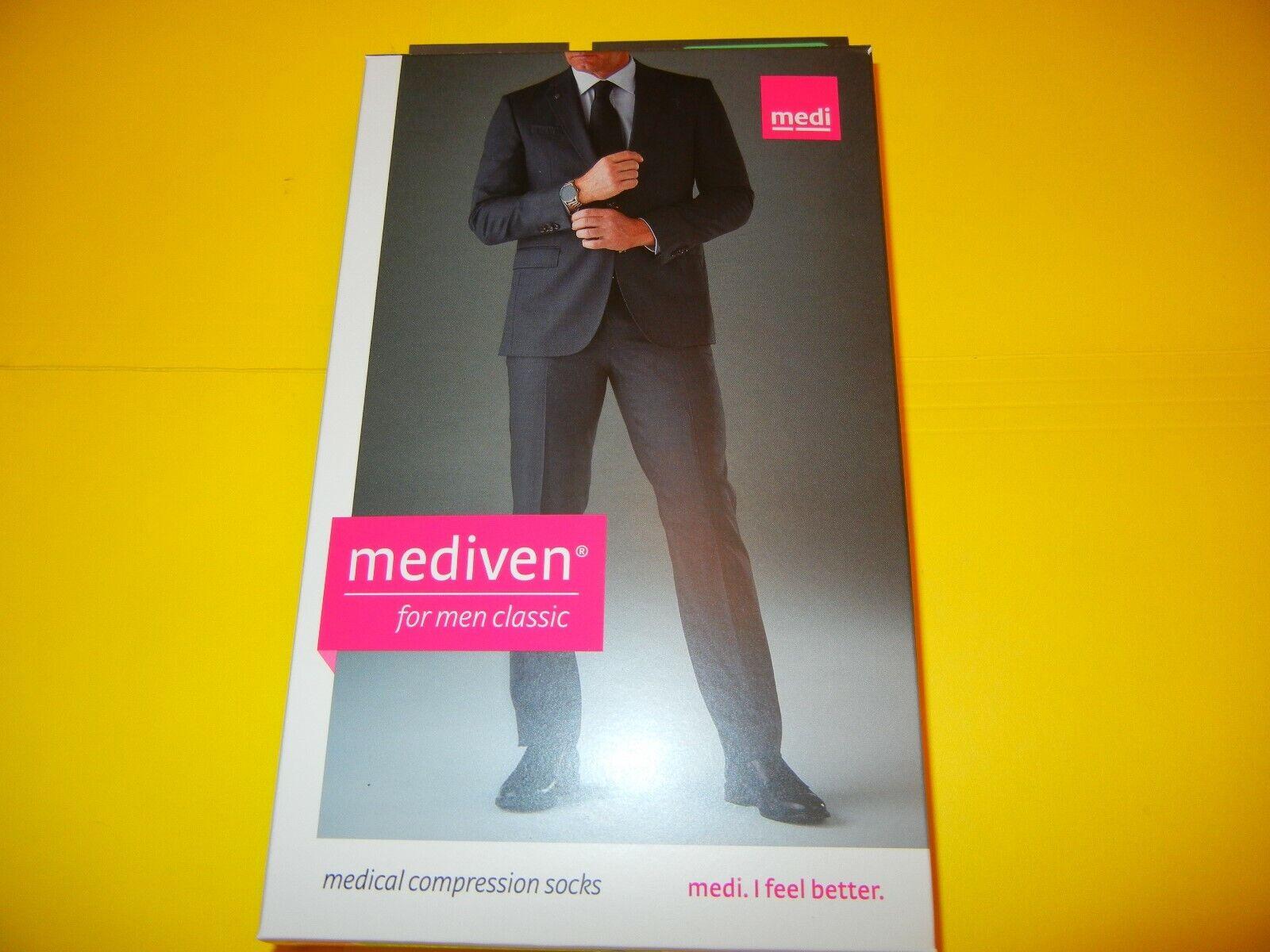 Mediven for Men Classic Compression Socks 20-30 Black Closed