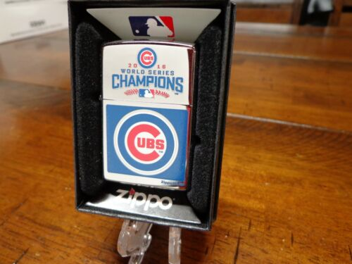 CHICAGO CUBS WORLD SERIES CHAMPIONS 2016 MLB ZIPPO LIGHTER MINT IN BOX