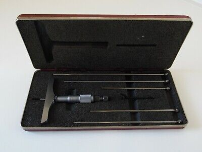 Starrett No.445 0 - 6 Inch Depth Micrometer W4 Inch Base