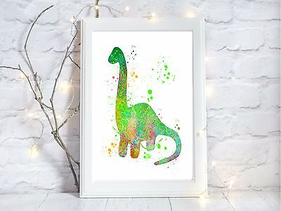 dinosaur print green a4 glossy poster nursery picture,UNFRAMED