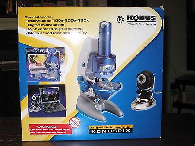 KONUS KONUSPIX DIGITAL MICROSCOPE -- 100x-200x-450x -- FREE SHIPPING!!! - Konus Kids Microscopes
