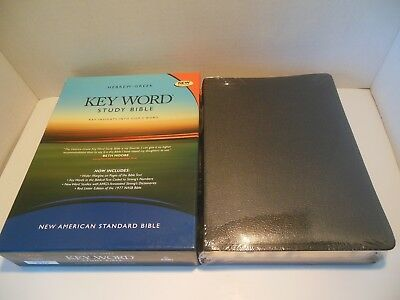 Hebrew Greek Key Word Study Bible Nasb New American Standard Bonded Leather Blk