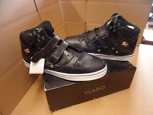 New Men's Vlado Knight Mid-Top Black/White Casual Shoes Size 8 Brand New!