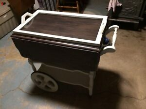 Refinished tea cart or bar cart