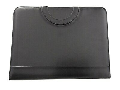 Portfolio Organizer With 3-ring Binder Leatherette Faux Leather