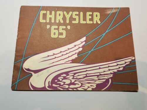 "1929 Chrysler ""65""  Original Sales Brochure"