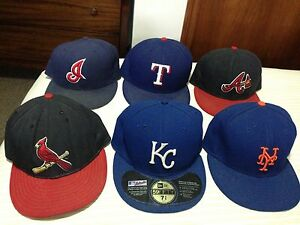 MLB baseball new area fitted hats authentic on field