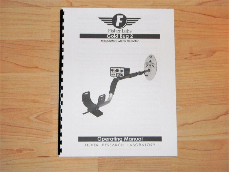 Fisher Model GoldBug 2 Metal Detector Operating Manual  - #MD12
