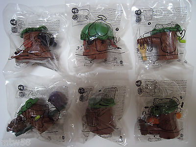 2014 Burger King DISNEY THE JUNGLE BOOK Toys Complete Set Of 6 *FREE SHIPPING*