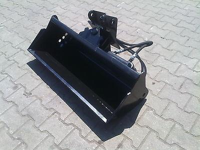 Hydraulischer Grabenräumlöffel Baggerlöffel Minibagger Bolzen 1000mm  Hardox NEU