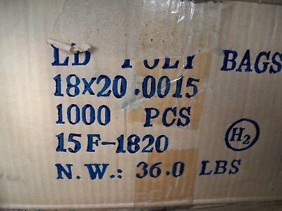 LD Clear Lay flat Poly Bags 1.5 mil 18