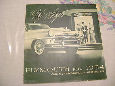 Amazing Plymouth for 1954  Savory,Plaza,Belvedere Full Line Brochure
