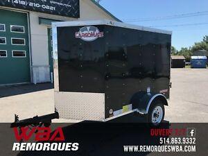 2018 Remorque Fermée 4x6 (4 X 6) Vélo/matériel camping Cargo Mat