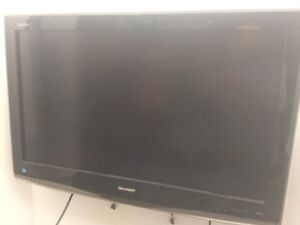 """Sharp 32"""" tv with wall mount."""