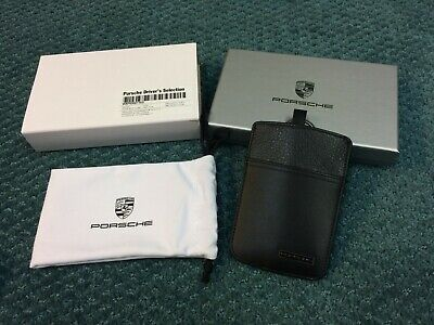 New Genuine Porsche Driver Selection Leather Embossed Key Pouch Case WAP0300110D