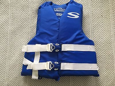 Stearns Child Life Jacket Sport Vest Blue White Straps and Buckles Type III Buckle Type Iii Life Vest