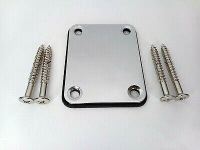 Stratocaster Telecaster Electric Guitar Neck Plate Chrome