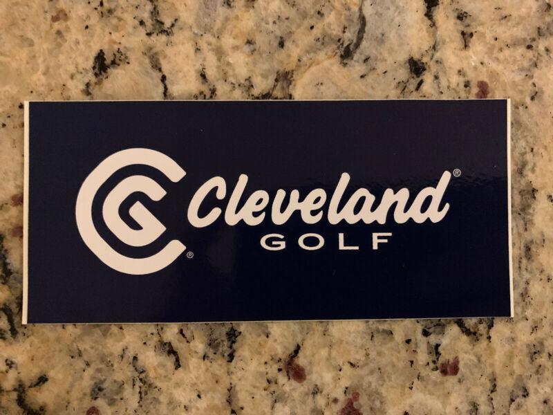 "Cleveland Golf 5"" X 2.25"" Sticker Decal Golf Black Large Brand New Oem"