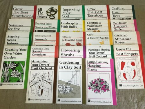 Storey Publishing Bulletin Gardening Book Lot Set of 23 Books