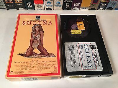 * Sheena Betamax NOT VHS 1984 Adventure Beta Tanya Roberts Ted Wass 80's
