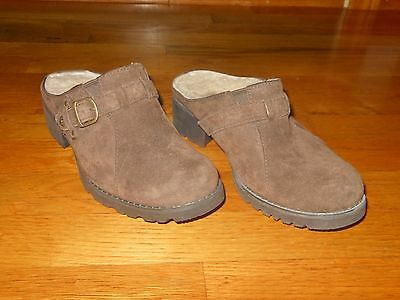 UGG Lila 1910 brown suede slip ons - Women's sz 5.5 M - Excellent condition