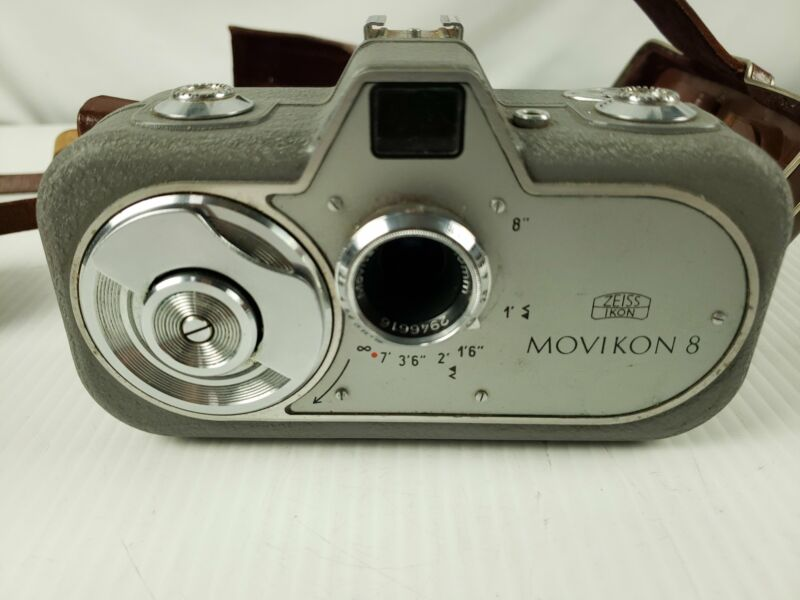 ZEISS IKON MOVIKON 8 V1 8mm FILM CINE MOVIE CAMERA, WORKS GREAT +CASE + Extras
