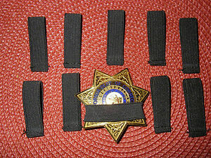 Law Enforcement Badge Mourning Bands Black 1/2