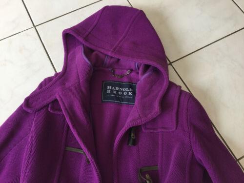 Duffle-coat manteau harnold brook taille 36 aubergine violet tres bon état