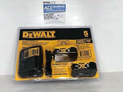 DeWalt DCB205-2CK 20V 2 Battery & Charger Starter Kit w/ Bag