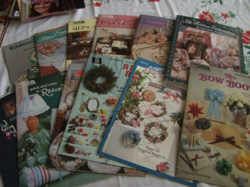 Set of 12 Ribbon Embroidery Pattern and Instruction Books & Booklets