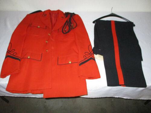 Vintage Ostwald Orange & Black School Marching Band Uniform