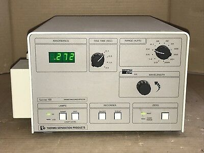 Variable Wavelength Detector Uvvis Thermo Separation Spectra 100 Sc100