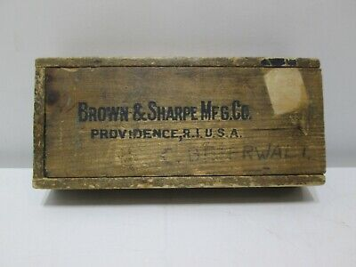 Vintage Brown Sharpe Micrometer Caliper 0 - 1 Inch Usa Machinist Tool 13