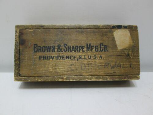 Vintage Brown & Sharpe Micrometer Caliper 0 - 1 Inch USA Machinist Tool #13