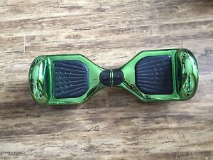 Self balancing scooter Hoverboard Chrome green