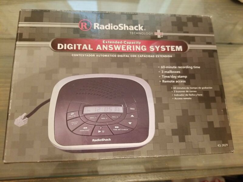 Radio Shack Extended Capacity Digital Answering System UPC 040293000158 Open Box