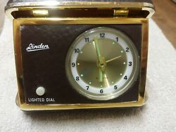 Vintage Linden Portable Travel Alarm Clock. Battery Operated Excellent Condition