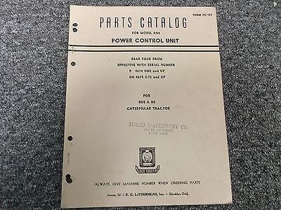 Letourneau Model Dn8 Rear Four 4 Drum Power Control Unit Part Catalog Manual