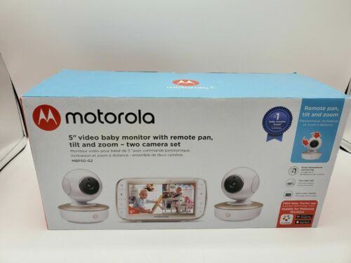 Motorola MBP50G2 5 inch Portable Video Baby Monitor with 2 Cameras