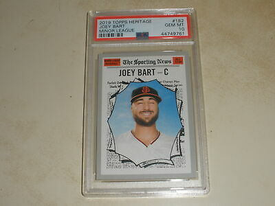 2019 Topps Heritage Minor League Rookie RC 182 Joey Bart PSA 10 GEM MINT
