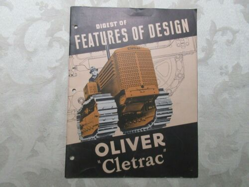 Rare Oliver Cletrac Crawler Sales Brochure 1946 36 Pages